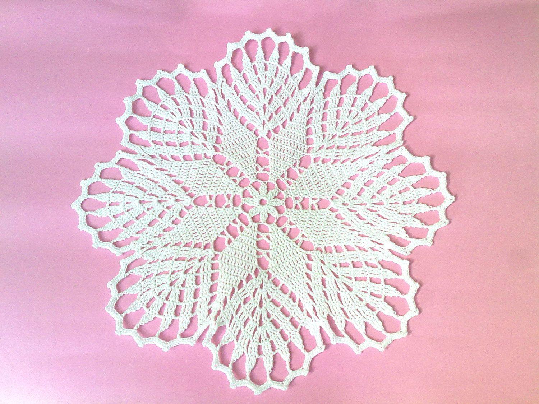 Crochet Doily, Crochet Doilies, White Crochet Doily, Crochet ...