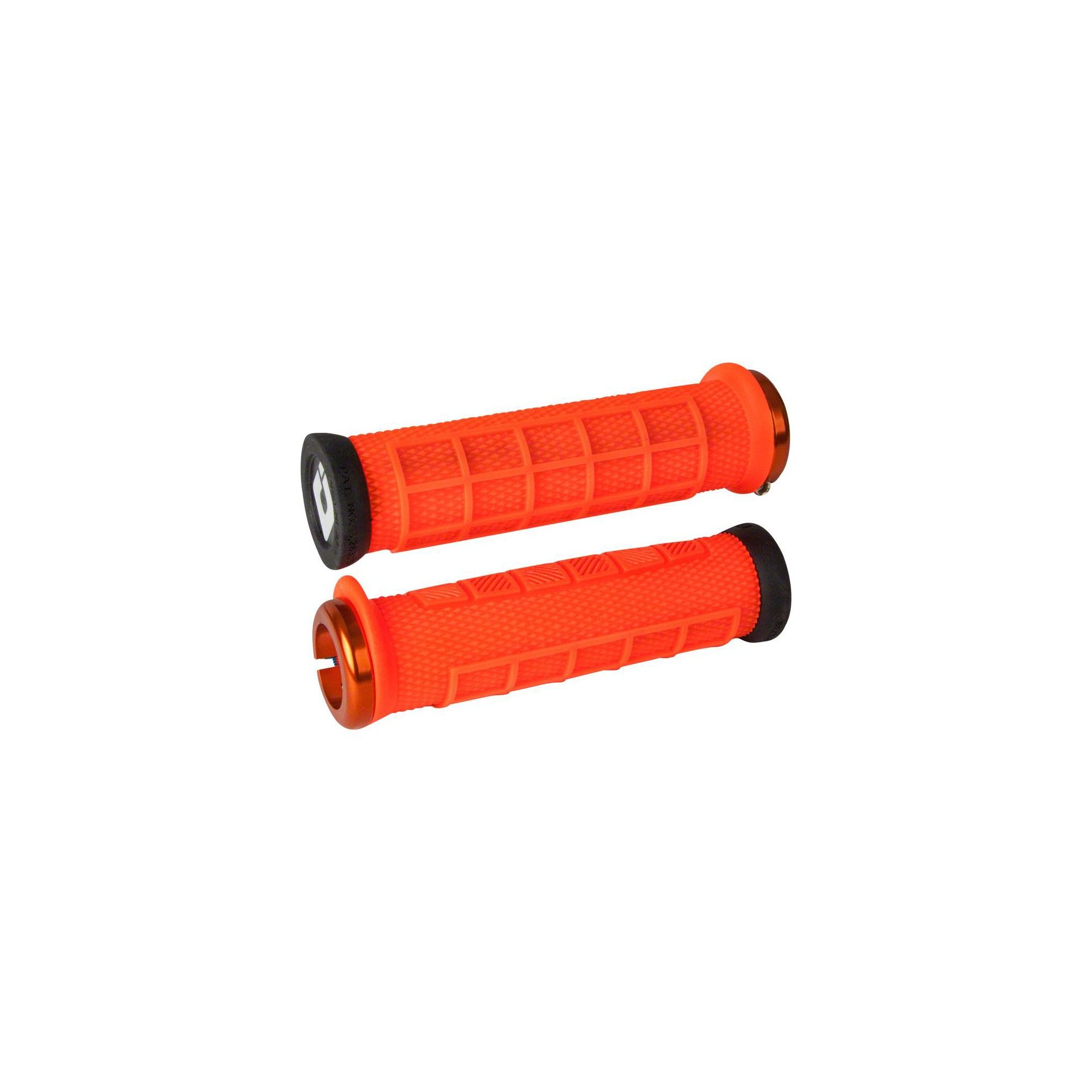ODI Elite Pro Lock-On Grips Orange with Orange Clamps