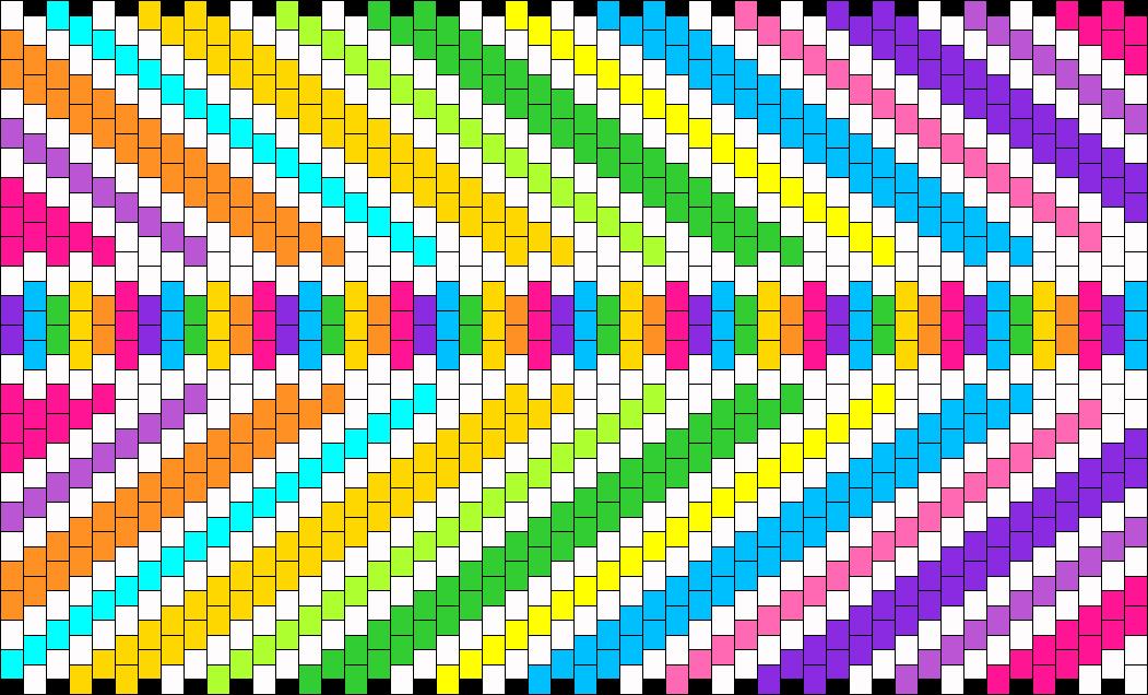 Rainbow Bag Panel Bead Pattern