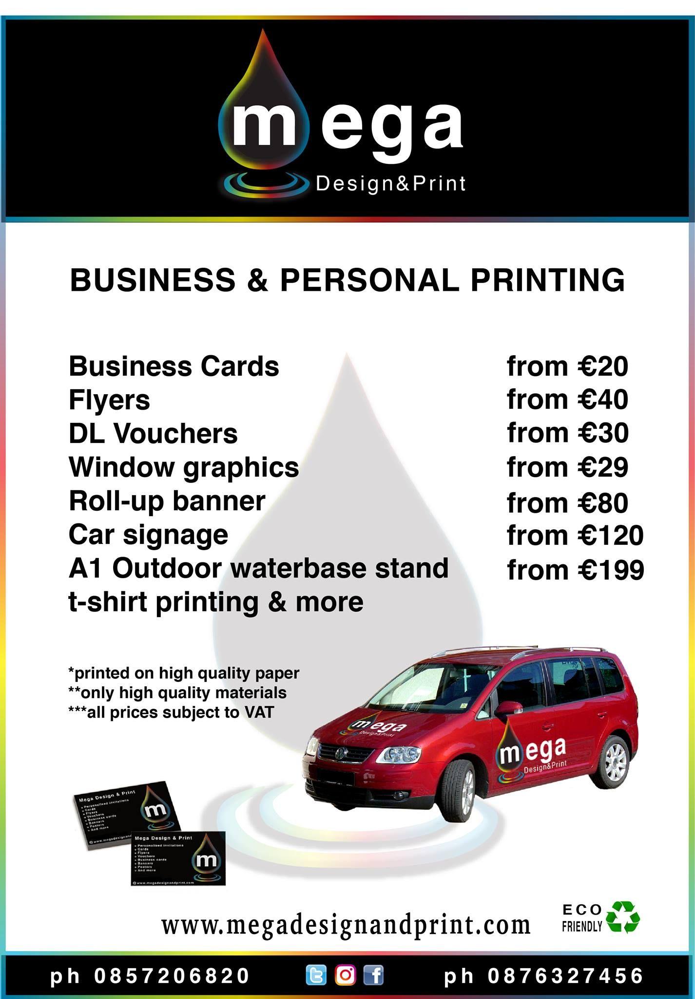 Megadesignprint Mega Design Print Pricelist Products Prints