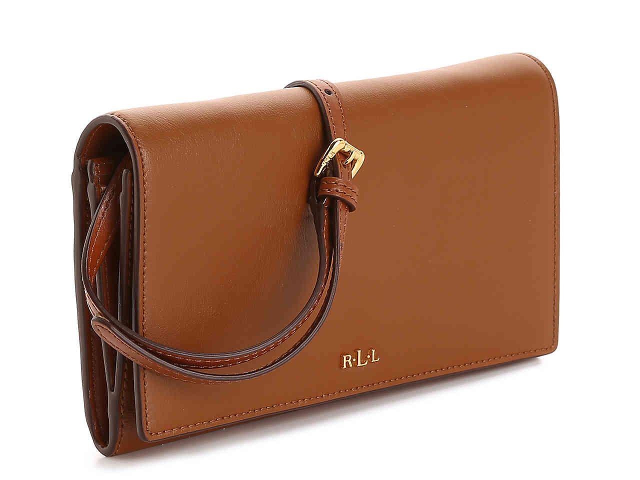 7b41fc6676 Lauren Ralph Lauren Dowell Leather Crossbody Bag Women s Handbags    Accessories