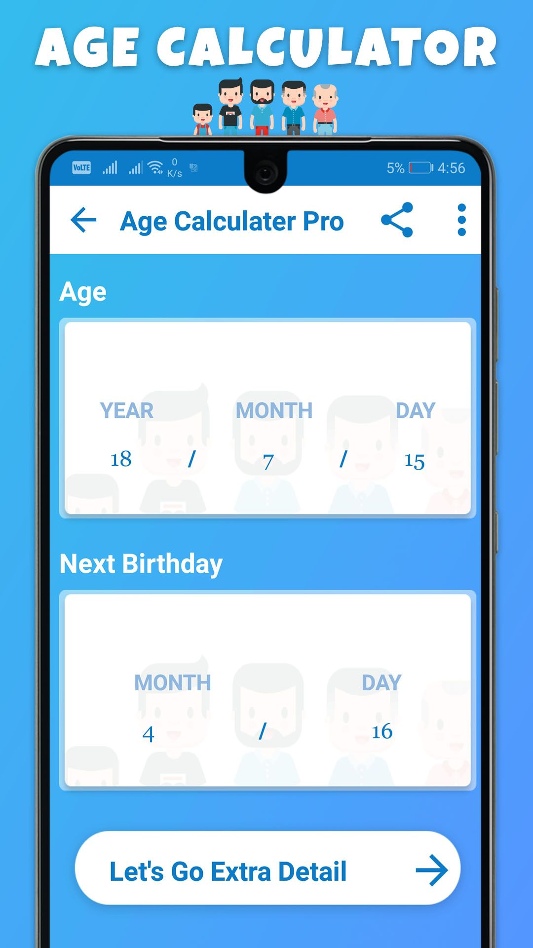 Age Calculator with extra details Age calculator