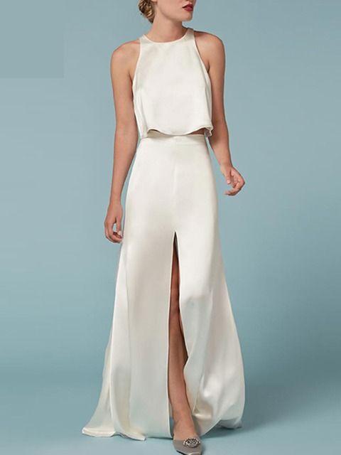White Simple Elegant Cut Out Dress   Irisie   IRISIE ❤ Occasion ...
