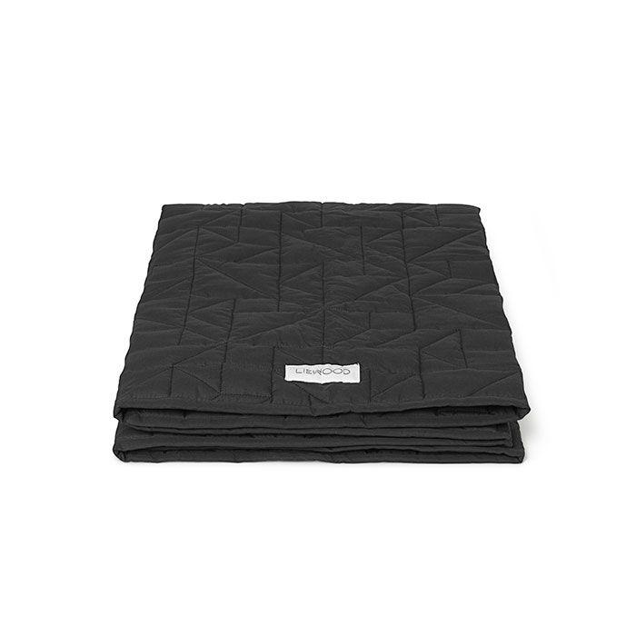 Liewood quilter tæppe - Dark grey foldet