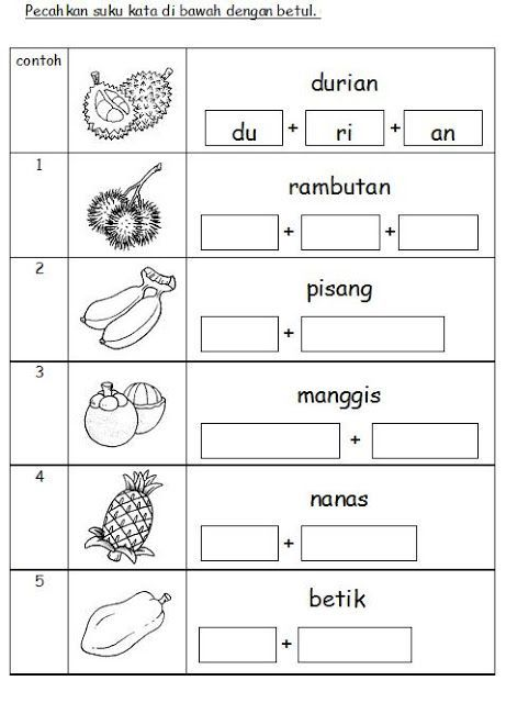Collection Of Worksheet Preschool Bahasa Melayu Download Them And Try To Solve Latihan Buku Pelajaran Belajar