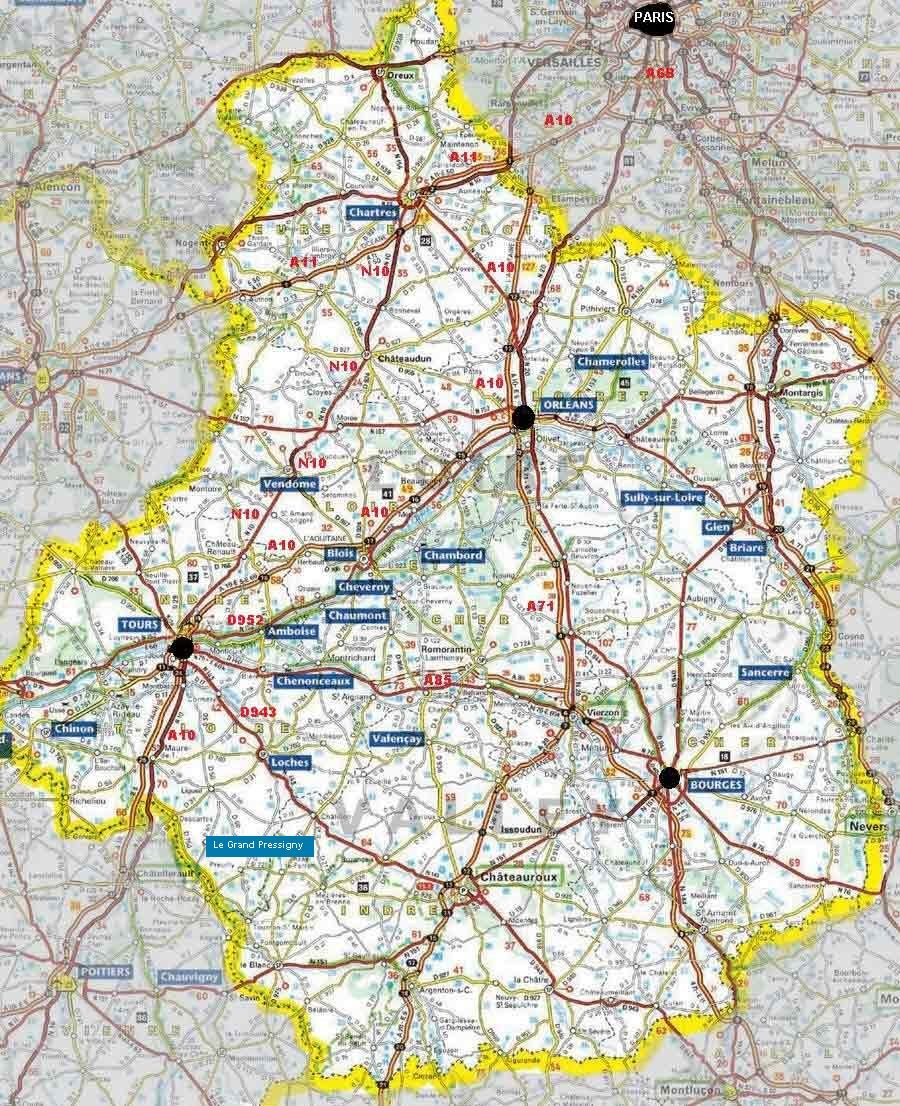 Loire Valley map plus information France visits Pinterest