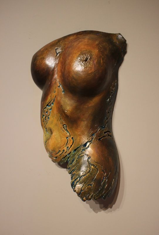 Rising Dawn - Torso Life Cast Sculpture by Stephen Cole- The