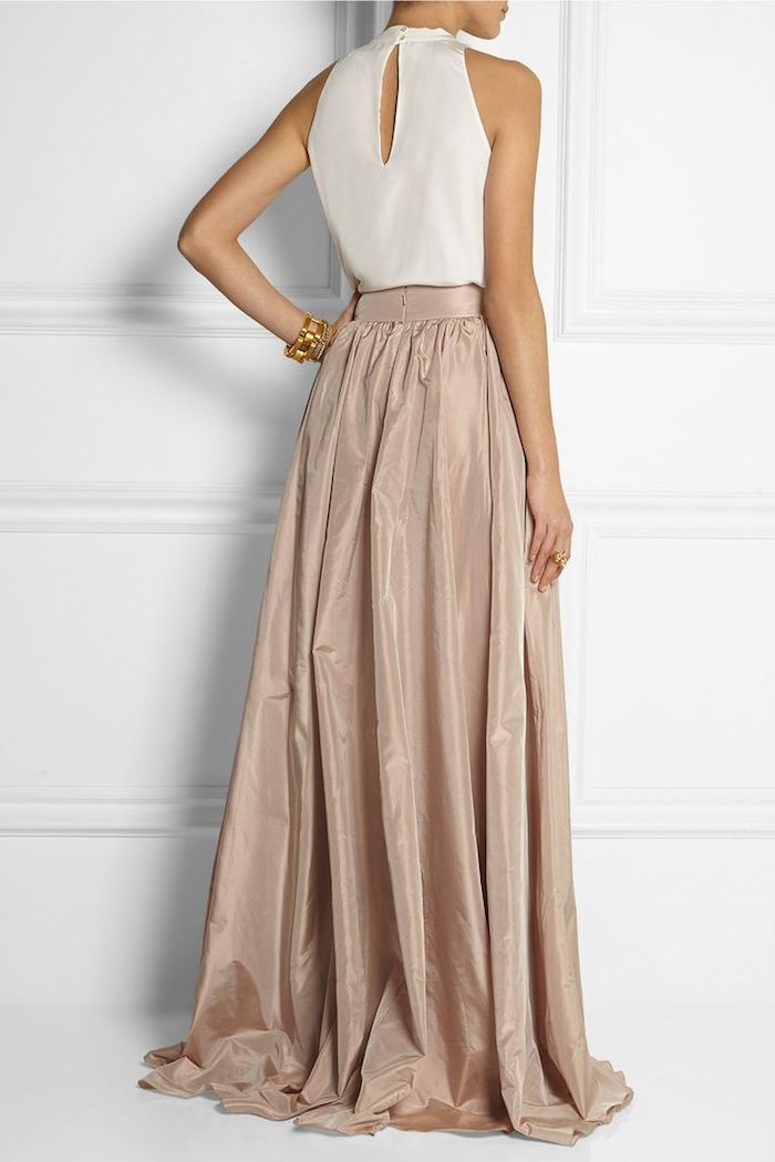 jenny packham - pleated silk taffeta maxi skirt | Fashionista ...