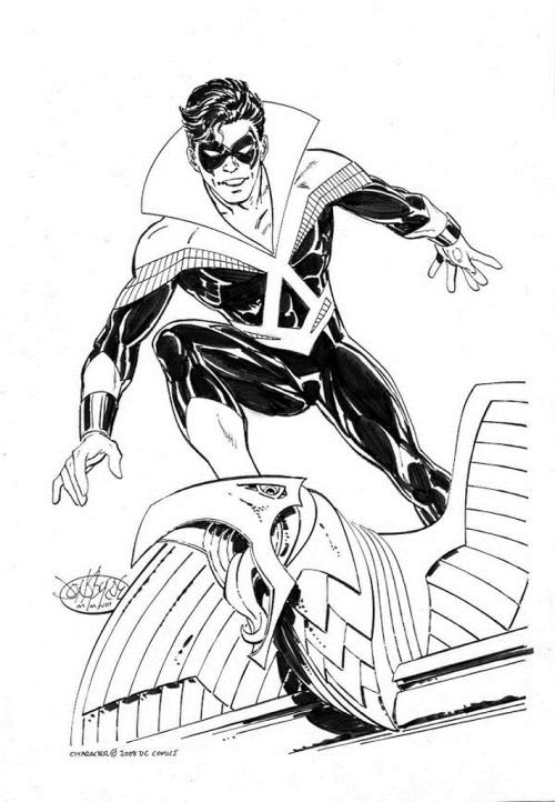 Nightwing commission by John Byrne. 2008. | DC Comics | Pinterest
