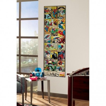 Classic Spider-Man Comic Book Wall Panel - Comic Book Covers - Comic Wall Decals - Entertainment Decals - Wall Decals | RoomMates Peel and Stick Décor
