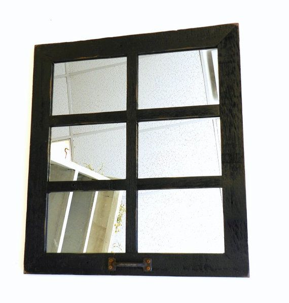 20 X22 5 6 Pane Window Mirror Antique Repurposed Old Window Panes Style Frame Small Square Vintage Wooden Farmhouse Wall Art Decor Window Mirror Old Window Panes Farmhouse Wall Art