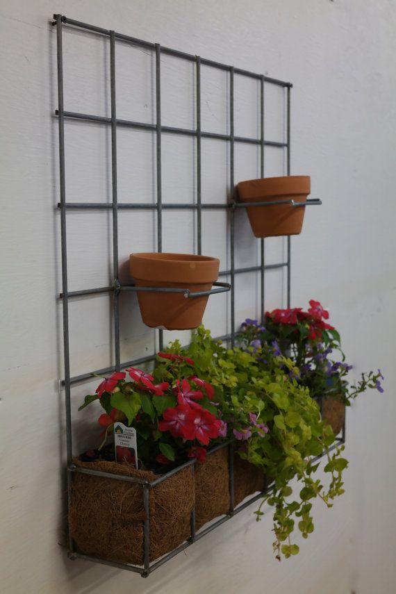 Handmade Wall Hanging Planter Made Of Galvanized Wire