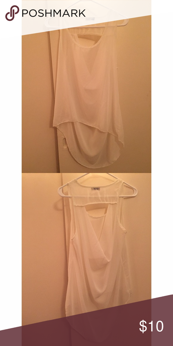 White sheer shirt Sheer, worn once Body Central Tops Tank Tops