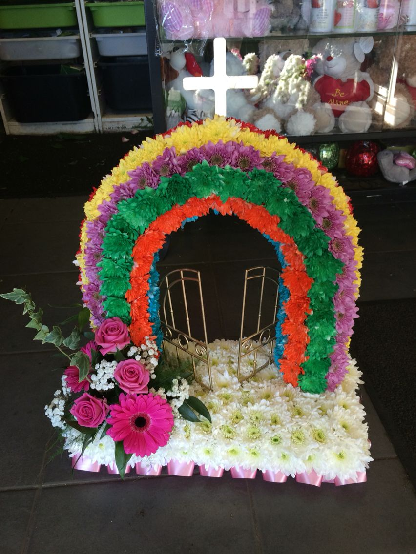 Rainbow gates of heaven arrange pinterest funeral flowers rainbow gates of heaven funeral flowers gates gate izmirmasajfo
