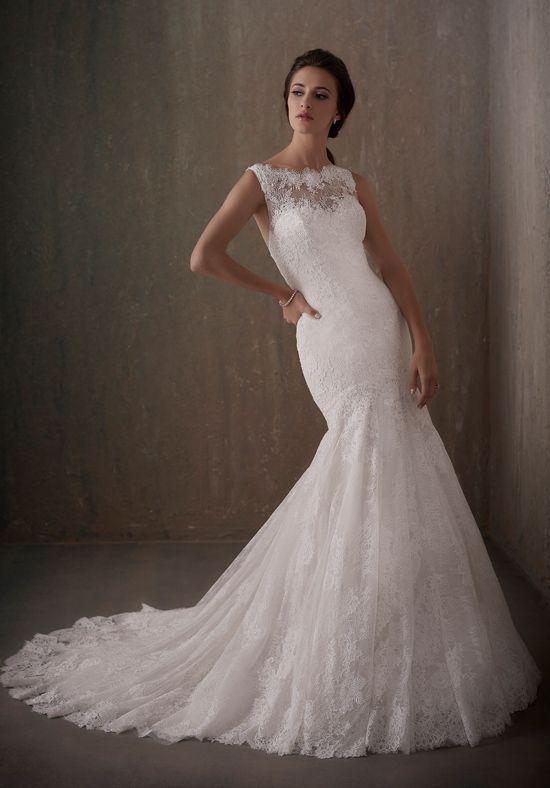 Wedding Dresses: Illustration Description Romantic lace wedding ...