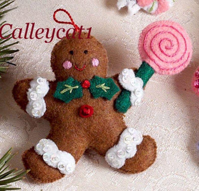 Bucilla Cupcake Angel 6 Pce Felt Christmas Ornament Kit 86242