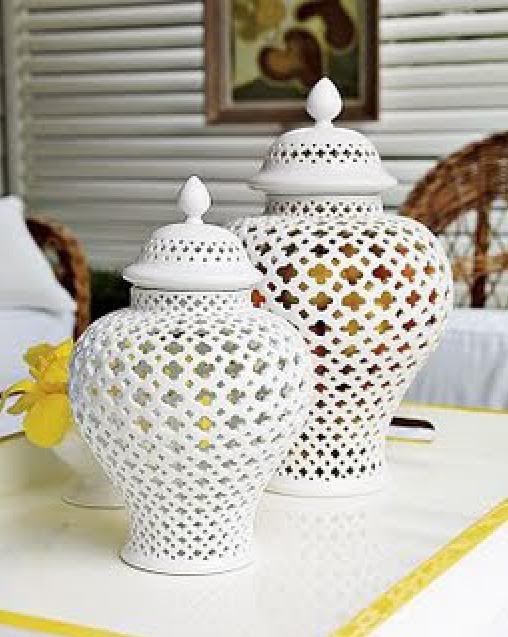 fretwork cutout ginger jar - Ginger Jars