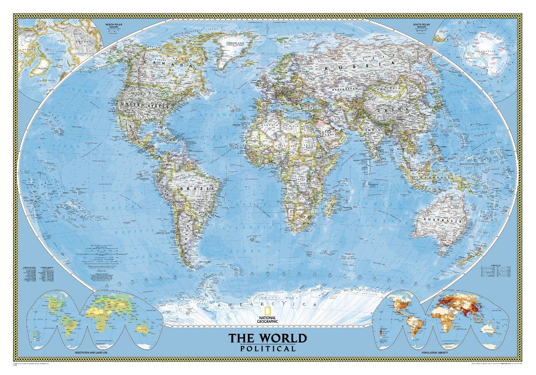 Amazon world classic wall map laminated reference world amazon world classic wall map laminated reference world gumiabroncs Choice Image