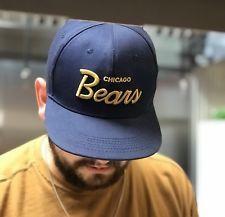 Vintage Chicago Bears SnapBack Hat Cap 90s NFL Bears Gold SnapBack ... a87abde7354d