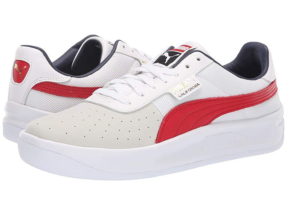 PUMA California Casual (Puma White/Ribbon Red/Puma White