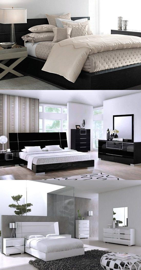How To Decorate A Bedroom With Black Lacquer Furniture The Bedroom Is A Very Pr White Lacquer Bedroom Furniture Bedroom Furniture Design Modern Bedroom Decor