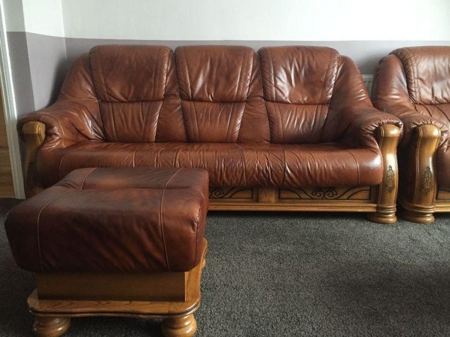 Attirant Belgium Leather Sofas