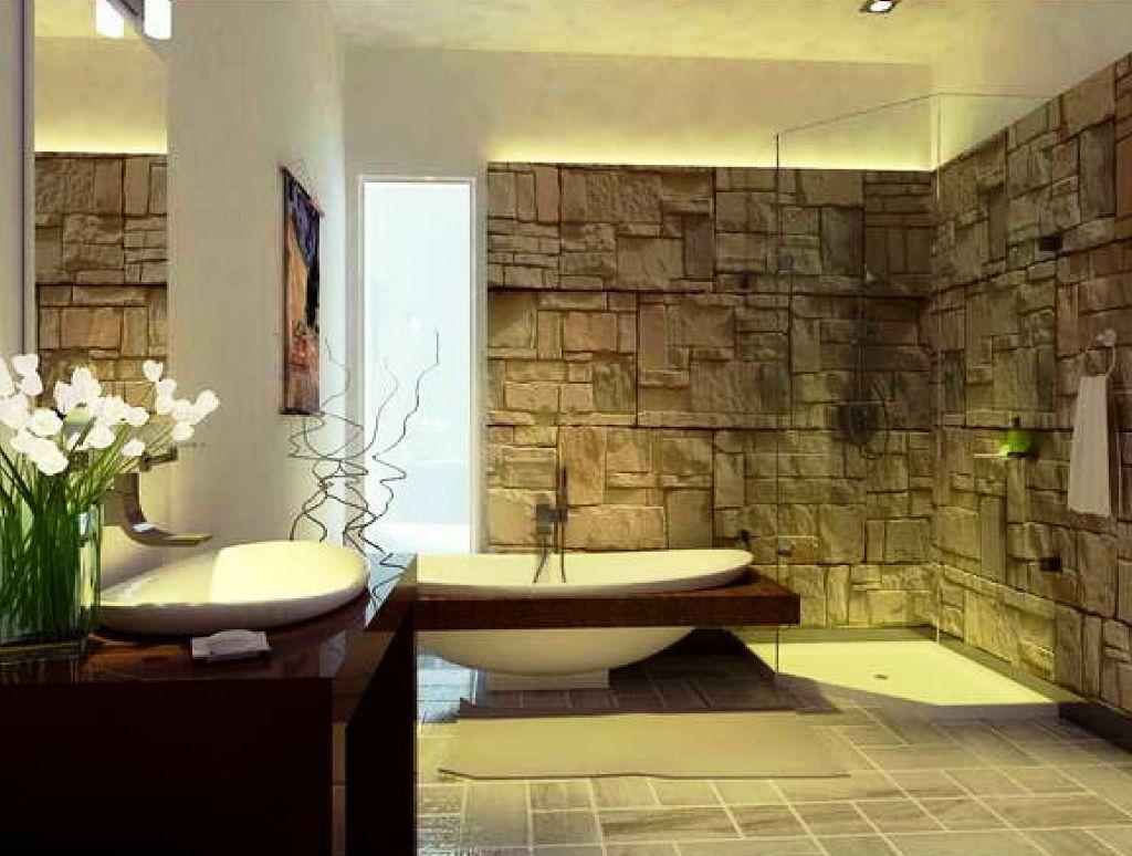 naturliche interieur mit stein haus design bilder, badezimmer-designs 23 natürliche badezimmerdekoration bilder #best, Design ideen