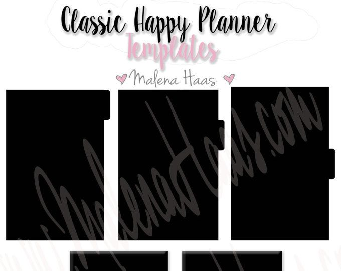 Tabbed divider template for your Classic Happy Planner - Can be used