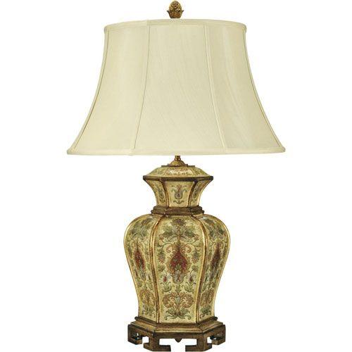 Bradburn Gallery Kashmir Antique Cream One-Light Table Lamp ...