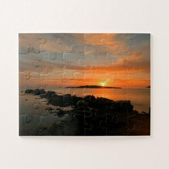 Puzzle en Sa Sal rossa al amanecer en Ibiza