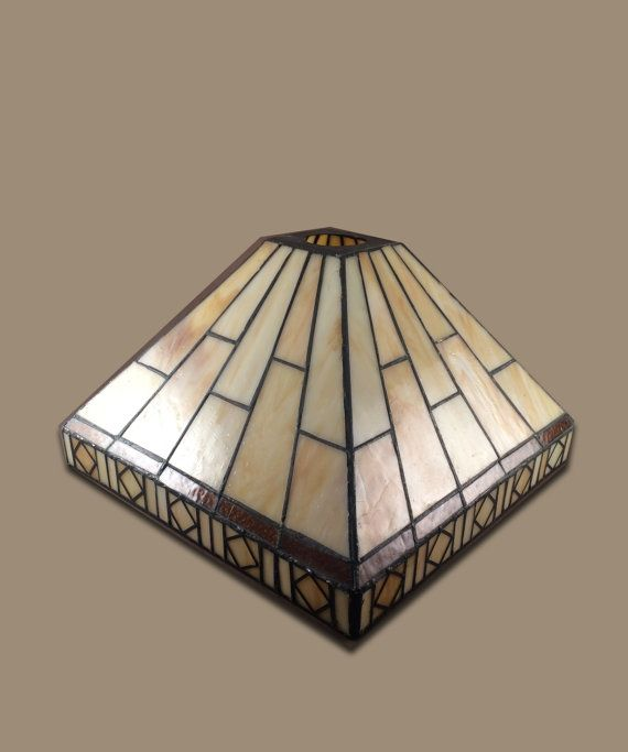 Tiffany Style Lamp Shades Beauteous Tiffany Inspired Missionstyle Square Lamp Shade  Shades Lamps And 2018