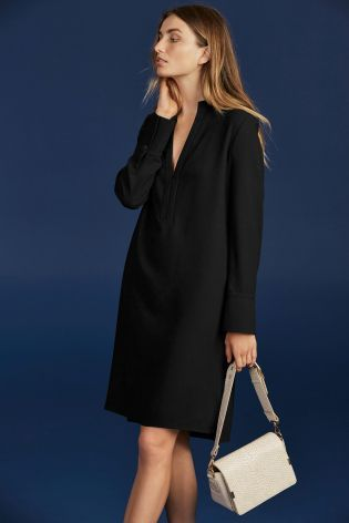 Buy Black Military Detail Shirt Dress online today at Next: Israel ...
