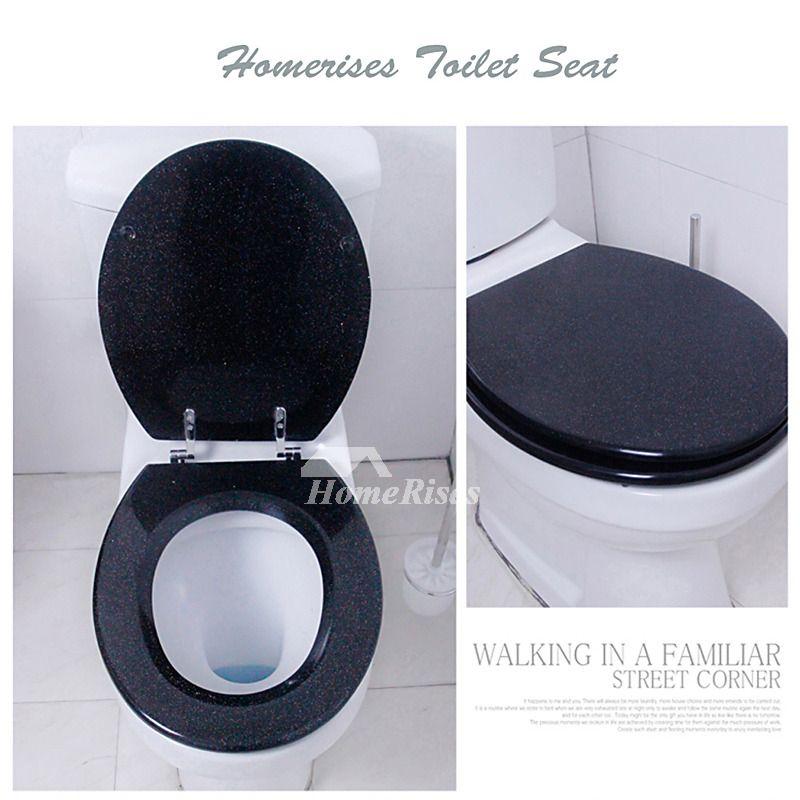 Prime Best Black Luxury Glitter Decorative Soft Close Oval Resin Theyellowbook Wood Chair Design Ideas Theyellowbookinfo