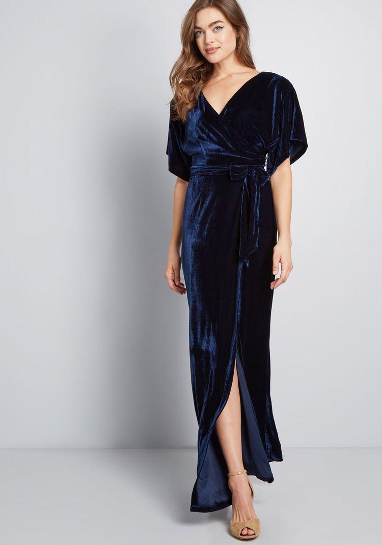 Collectif x mc silver screening velvet maxi dress velvet