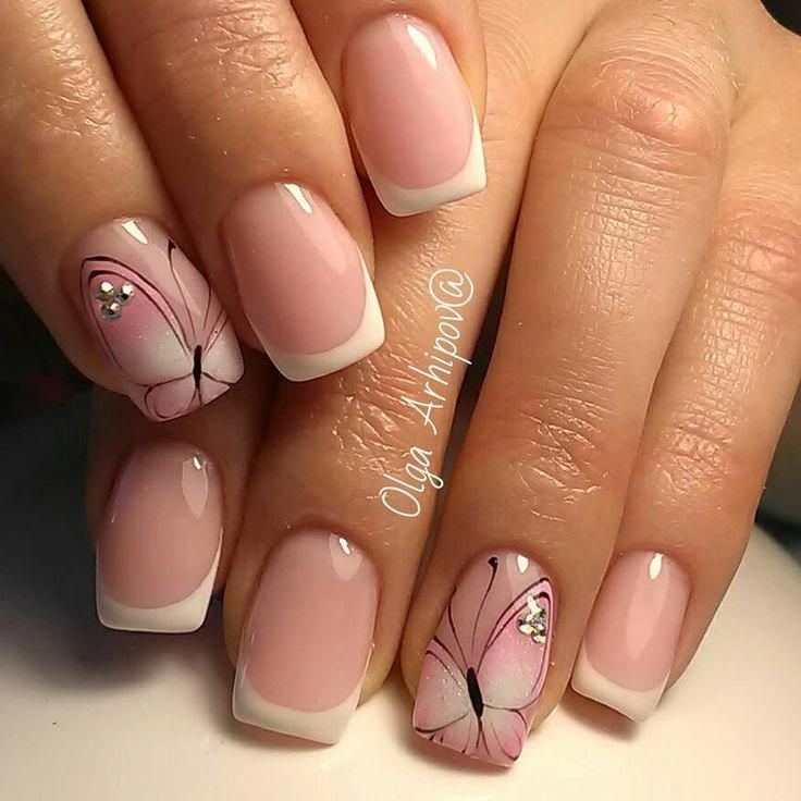 faded french nails awesome #frenchnailsfancy