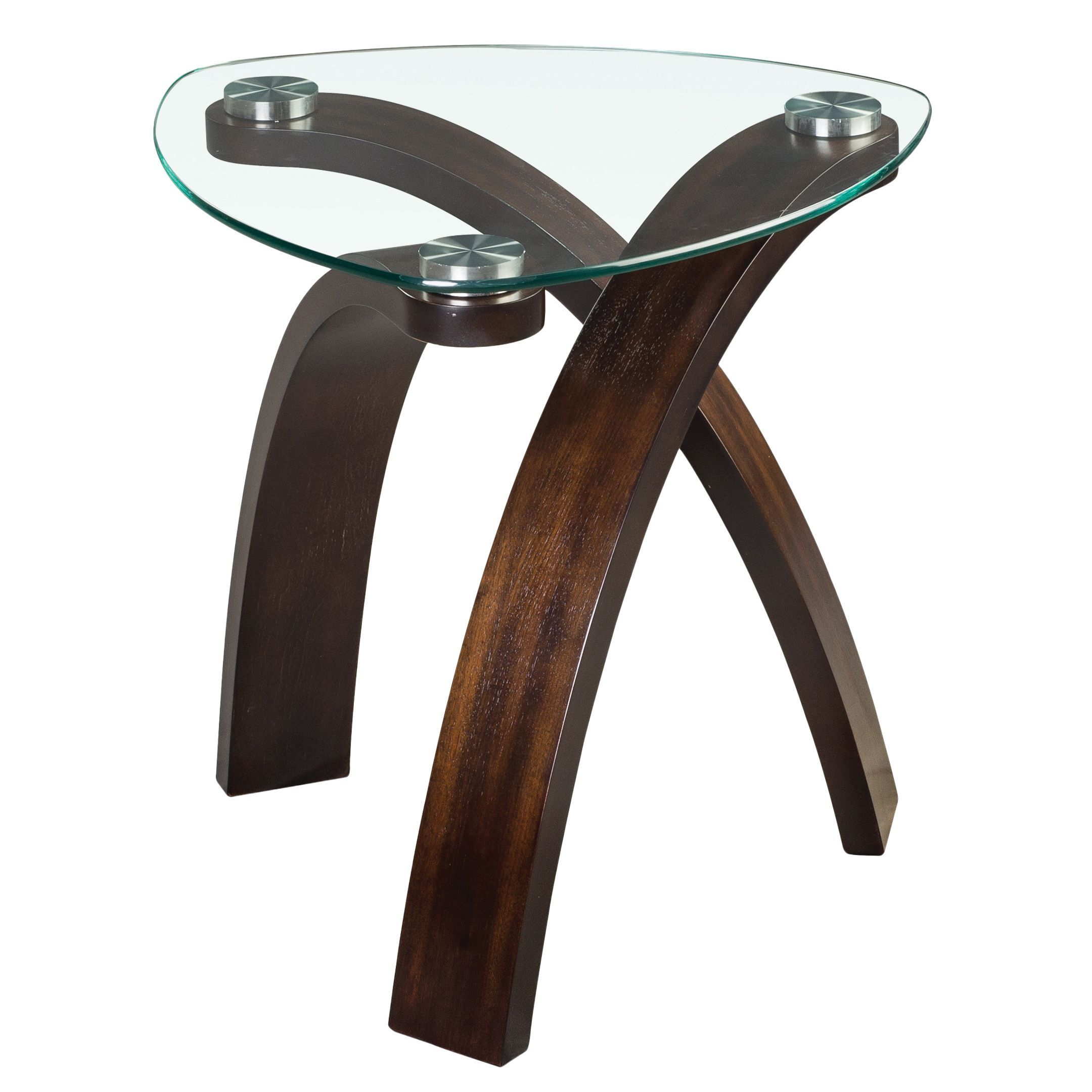 Magnussen Home Furnishings Allure Modern Glass top Arch Legged