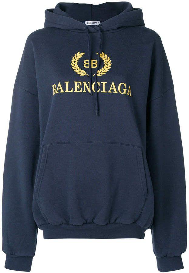 f1d31aff1be46 Balenciaga oversized logo hoodie