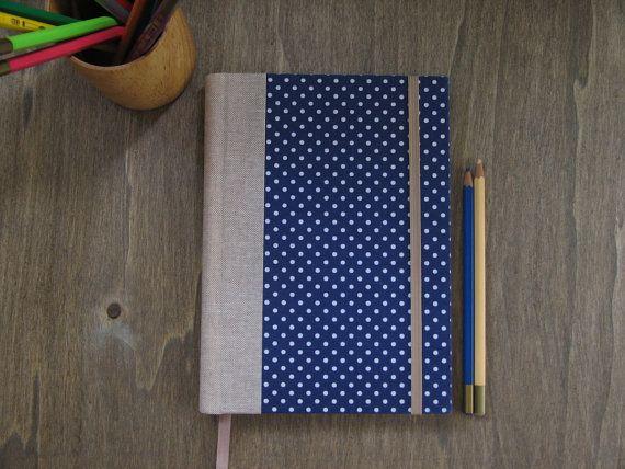 2016 Polka Dots Large Weekly Planner in Navy Blue  A5 by ArteeLuar