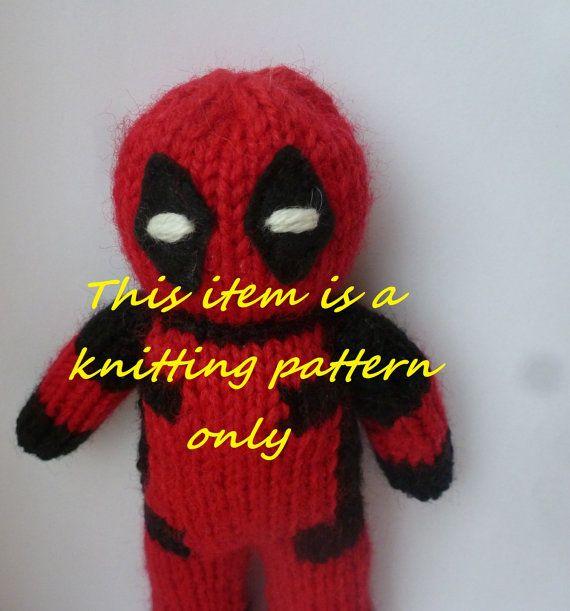 Pdf Knitting Pattern Deadpool Dolls Pinterest Knitting Knit