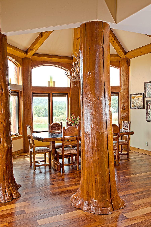 Compact Hybrid Timber Frame Home Design Photos Timber Home Living: Log, Timber Frame & Hybrid Style