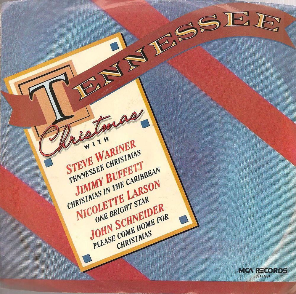 TENNESSEE CHRISTMAS - Red Vinyl Promo w/PS- JIMMY BUFFETT, NICOLETTE ...