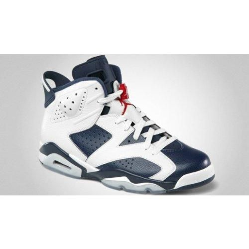 Mens Nike Air Jordan 6 Retro Olympic Edition Basketball Shoes White    Midnight Navy   Varsity Red 384664-130 Size 11.5 100% Authentic. Brand New.  Durable. 76a0f0204