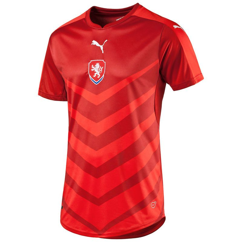 dc1d21da998 Czech Republic Puma 2016 Home Shirt Replica Jersey - Red