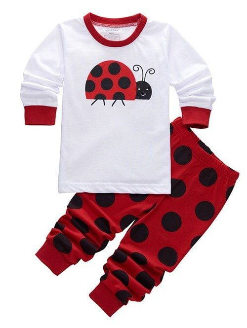 Sleepwear Insect Printed Pajamas Sets