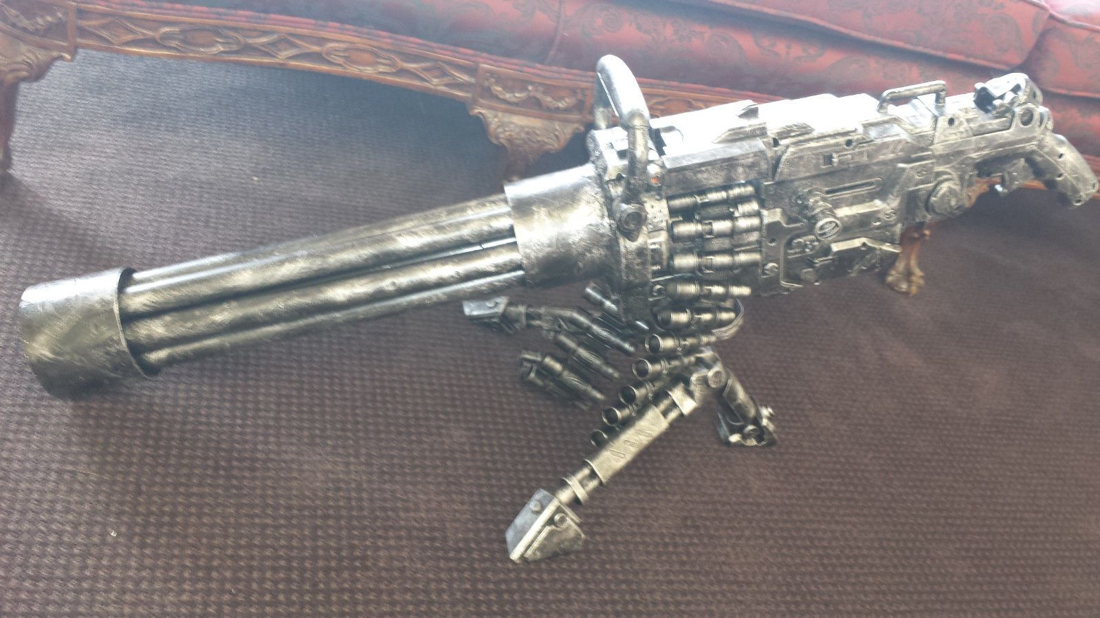 Steampunk HALO Nerf Vulcan Gun soft dart toy ZOMBIE Fall Out gothic tommy  gun. $129.99