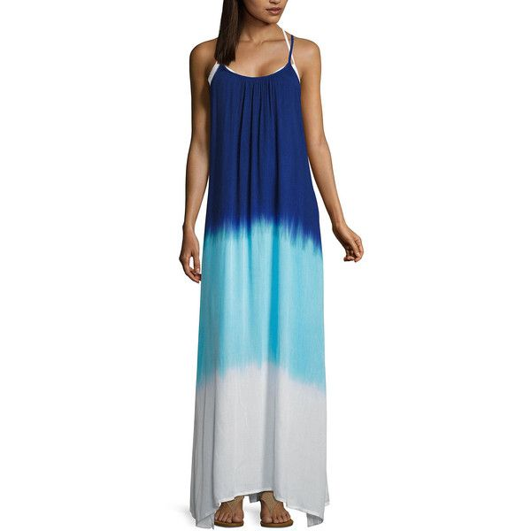 c69df70b0b a.n.a Ombre Swimsuit Cover-Up Dress ( 25) ❤ liked on Polyvore featuring  swimwear