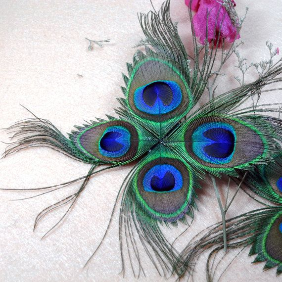 703e3f99b Butterfly Shape Peacoak Feather Pad for Hats by peahenLee, $4.65. I love  the idea of using peacock feathers to make ...