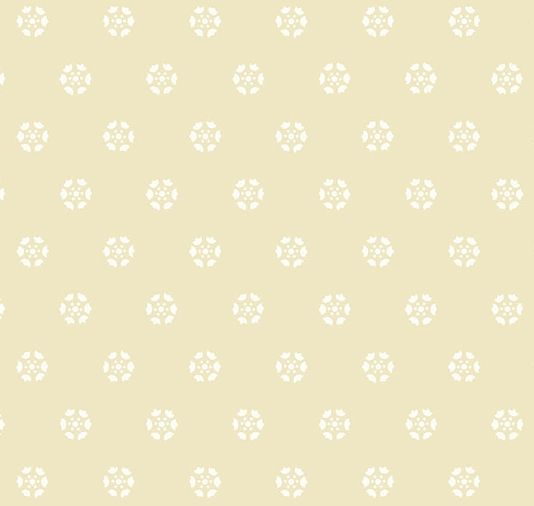 Georgian On Wallpaper Soft Yellow With Small Medallions In White