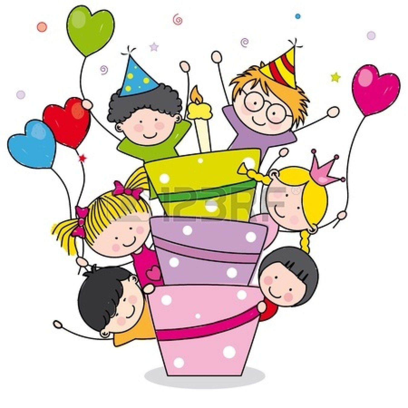 Kids Birthday Party Clip Art Clipart Panda Free