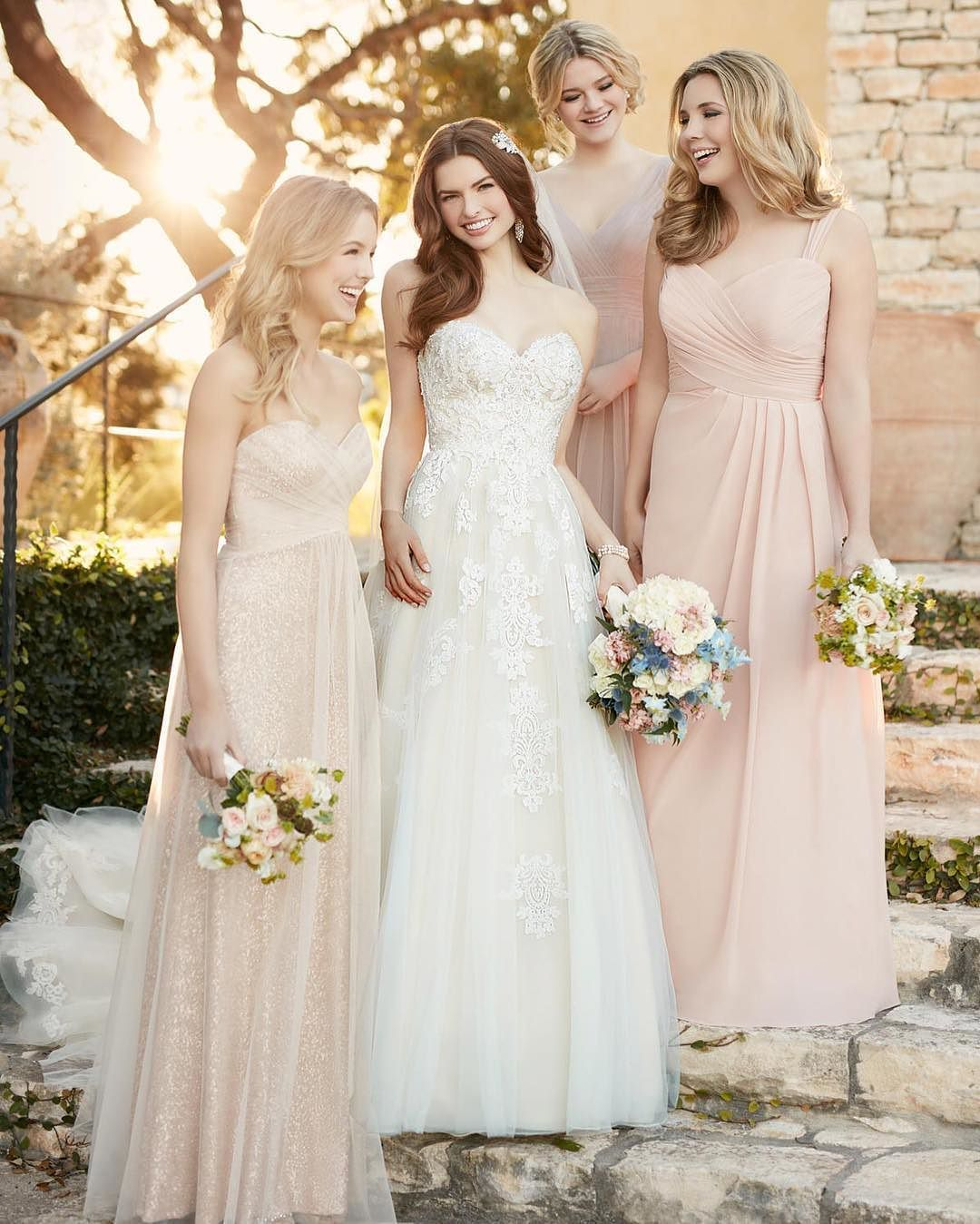 A romantic aline gown stunning bridesmaids ud vintageinspired